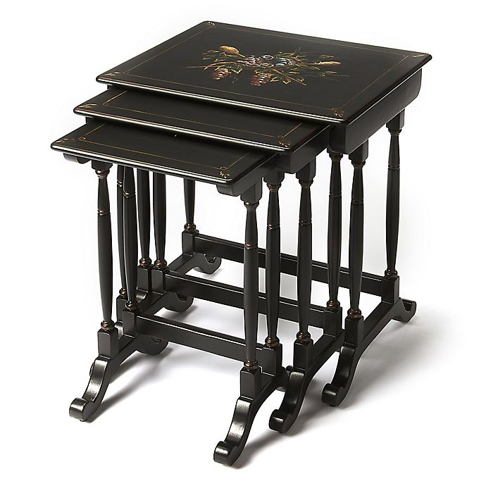 Alternate image 1 for Butler Specialty Company Castle Contessa 3-Piece Nesting Table Set in Black