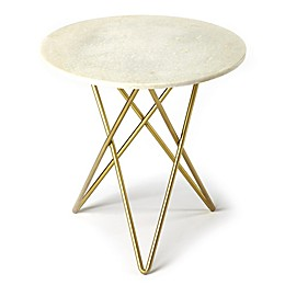 Butler Quantum Marble Bunching Table in Gold