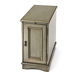 Butler Specialty Company Harling Chairside Chest in Silver Satin