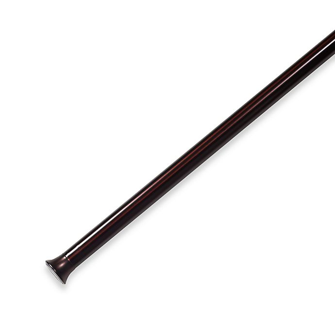 Alternate image 1 for Umbra® Chroma 54-Inch - 90-Inch Drapery Tension Rod in Bronze
