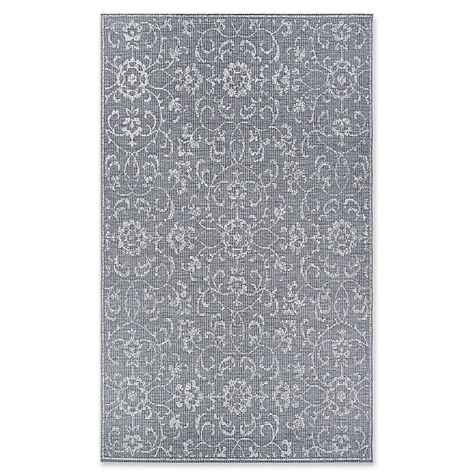 Alternate image 1 for Couristan® Monte Carlo Summer Vines 2' x 3'7 Accent Rug in Dark Grey/Ivory
