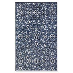 Couristan® Monte Carlo Summer Vines 7'6 x 10'9 Indoor/Outdoor Rug in Navy/Ivory