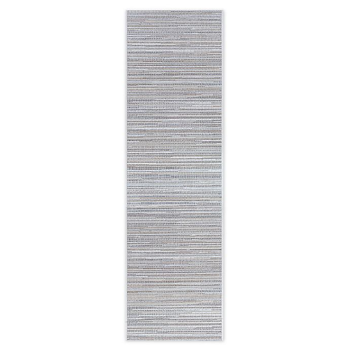 Alternate image 1 for Couristan® Coastal Breeze 2'3 x 7'10 Indoor/Outdoor Runner in Taupe/Champagne