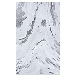 Couristan Abstract Marble Area Rug in Grey