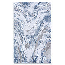 Couristan Abstract Marble 5'3 x 7'6 Area Rug in Grey