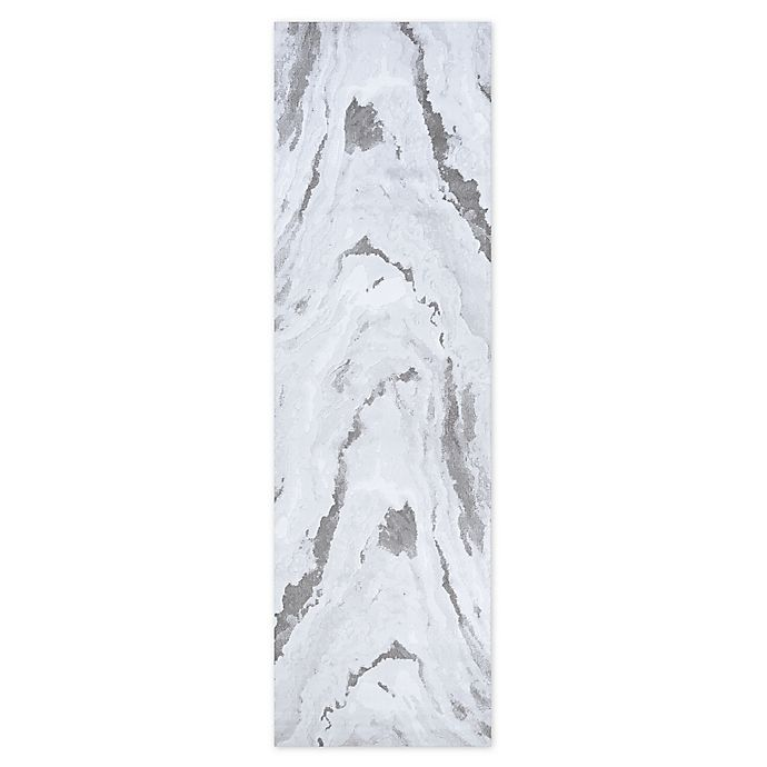 Alternate image 1 for Couristan Abstract Marble 2'2 x 7'10 Runner in Opal