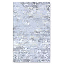 Couristan® Cryptic 3'11 x 5'6 Area Rug in Light Grey/Champagne