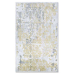 Couristan® Grand Damask 5'3 x 7'6 Area Rug in Gold/Silver/Ivory