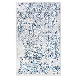 Couristan® Grand Damask 6'6 x 9'6 Area Rug in Steel Blue/Ivory