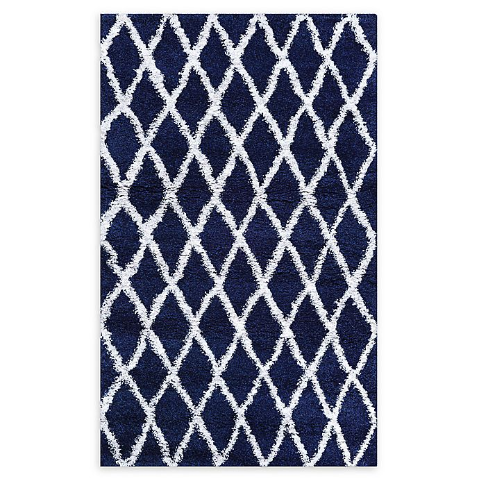 Alternate image 1 for Couristan® Temara Loomed 6'6 x 9'6 Accent Rug in Navy/White