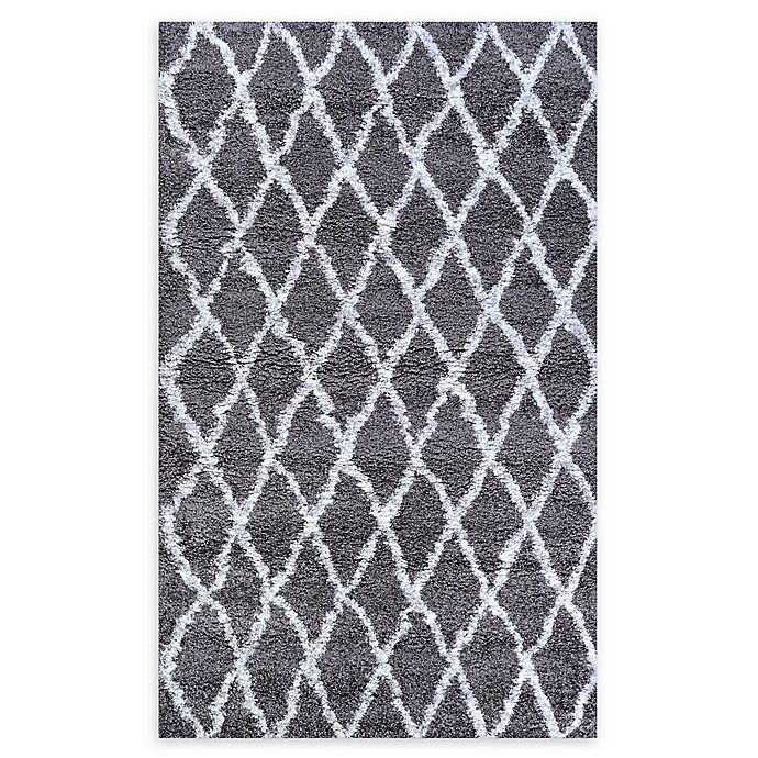 Alternate image 1 for Couristan® Temara Loomed 6'6 x 9'6 Accent Rug in Mink/White