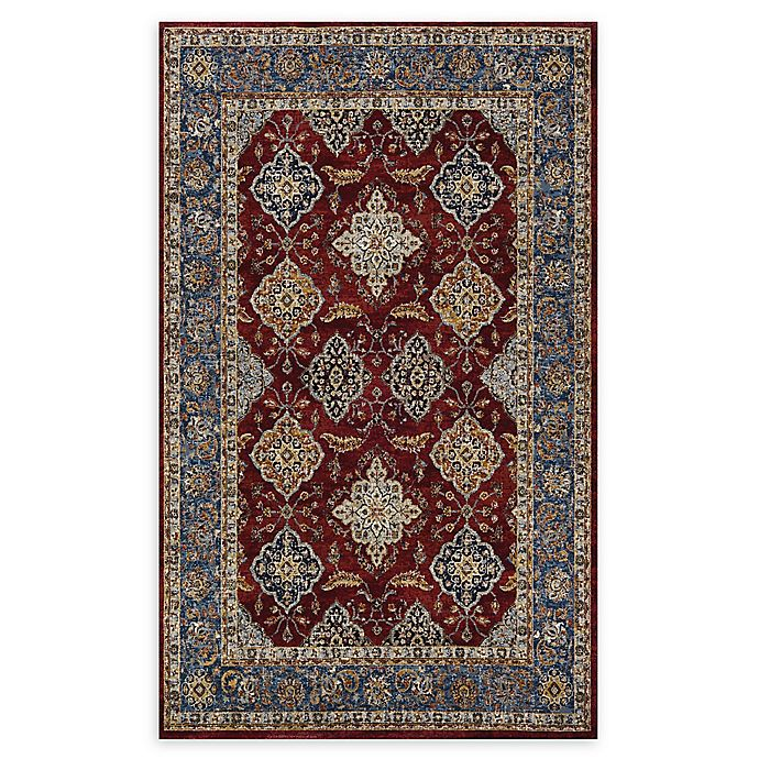 Alternate image 1 for Couristan® Yamut Woven 5'3 x 7'6 Area Rug in Bordeaux/Slate