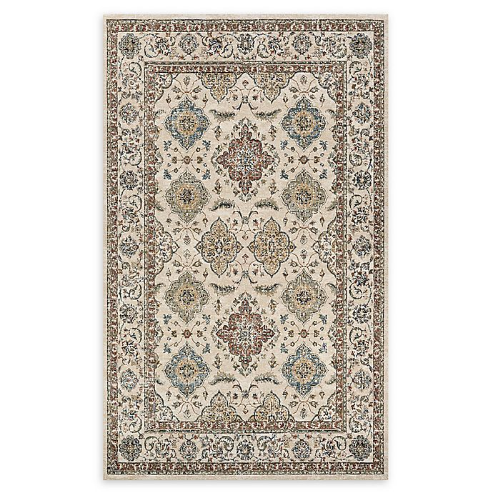 Alternate image 1 for Couristan® Yamut Woven 5'3 x 7'6 Area Rug in Antique Cream/Mocha