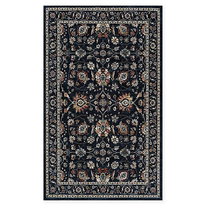 Alternate image 1 for Couristan Monarch 3'3 x 5'3 Kerman Vase Area Rug in Navy