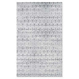 Couristan Marina Grisaille 6'6 x 9'6 Area Rug in Pearl/Champagne