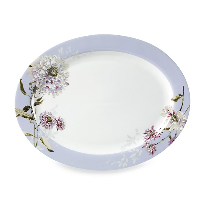 Mikasa Silk Floral Lavender 16 Inch Oval Platter Bed Bath Beyond