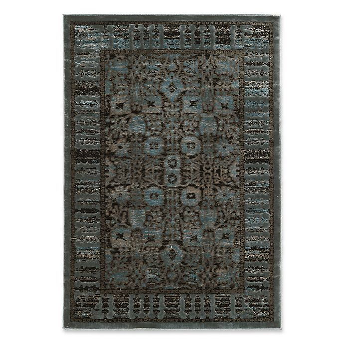 Alternate image 1 for Linon Home Platinum Isphahan 5' x 7'6 Area Rug in Blue/Black
