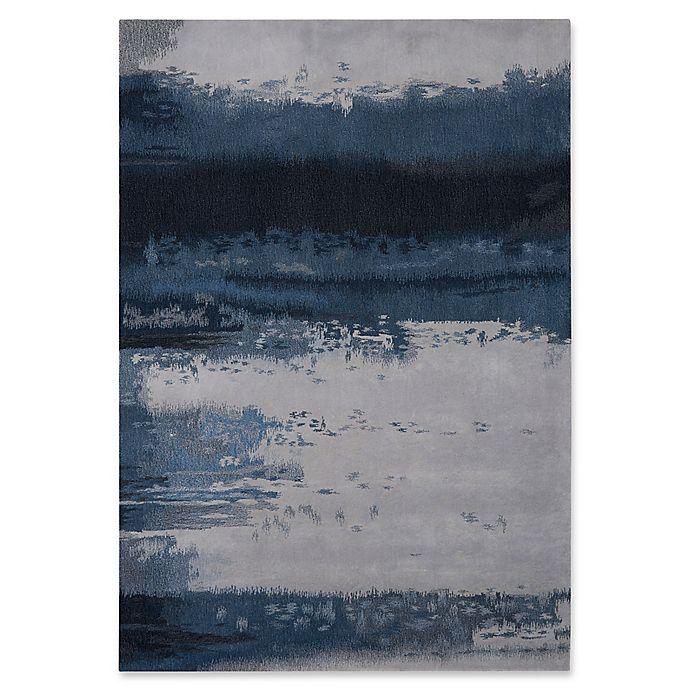 Alternate image 1 for Calvin Klein 8'3 x 11' Luster Wash Handmade Area Rug in Blue