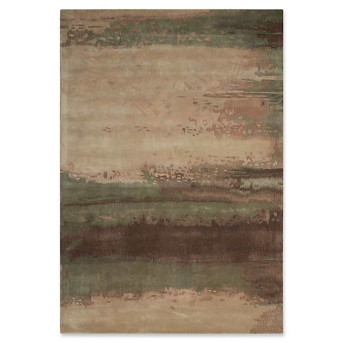 Alternate image 1 for Calvin Klein 8'3 x 11' Luster Wash Handmade Area Rug in Light Green