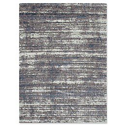 ECARPETGALLERY Brindle Shag Area Rug in Dark Grey/Light Grey
