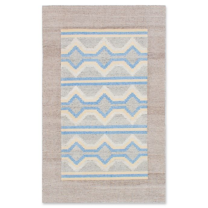 Alternate image 1 for ECARPETGALLERY Tribeca Kilim 8' x 10' Area Rug in Light Grey/Sky Blue