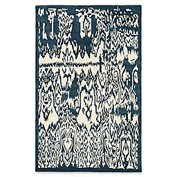 ECARPETGALLERY Abstract 5' x 8' Area Rug in Turquoise/Cream