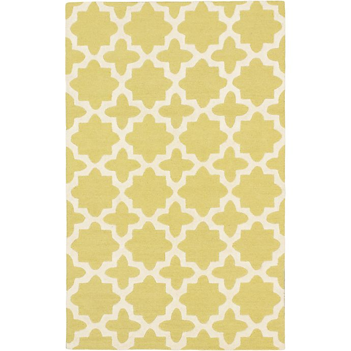 Alternate image 1 for ECARPETGALLERY Kasbah Hand-Tufted 5' x 8' Area Rug in Cream/Emerald Green
