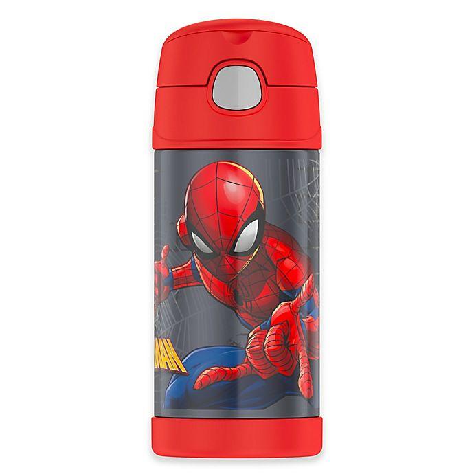 Alternate image 1 for Thermos® Spiderman 12 oz. Straw Bottle