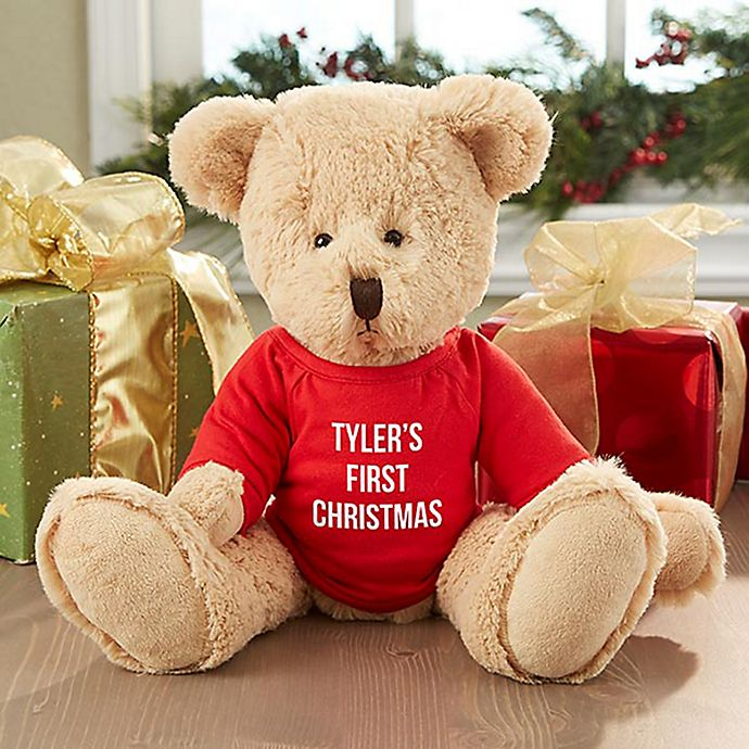 Alternate image 1 for Christmas with this First Christmas Teddy Bear