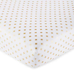 Levtex Baby® Aurora Ditsy Diamond Fitted Crib Sheet in Gold/White