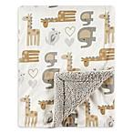 Luvable Friends® Safari Reversible Minky/Sherpa Blanket in Beige