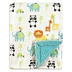 Luvable Friends® Animals Reversible Minky/Sherpa Blanket