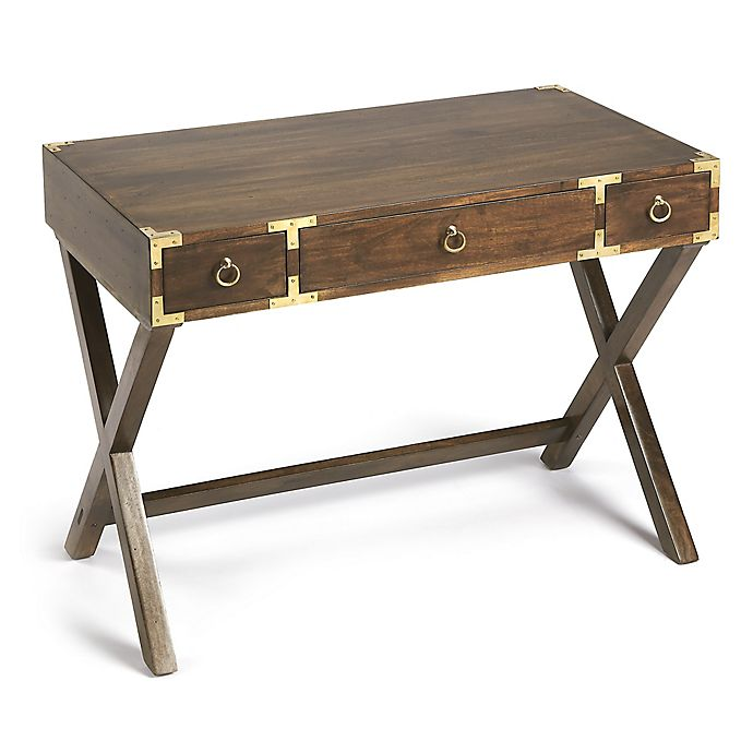 Alternate image 1 for Butler Specialty Company Forster Campaign Writing Desk in Walnut