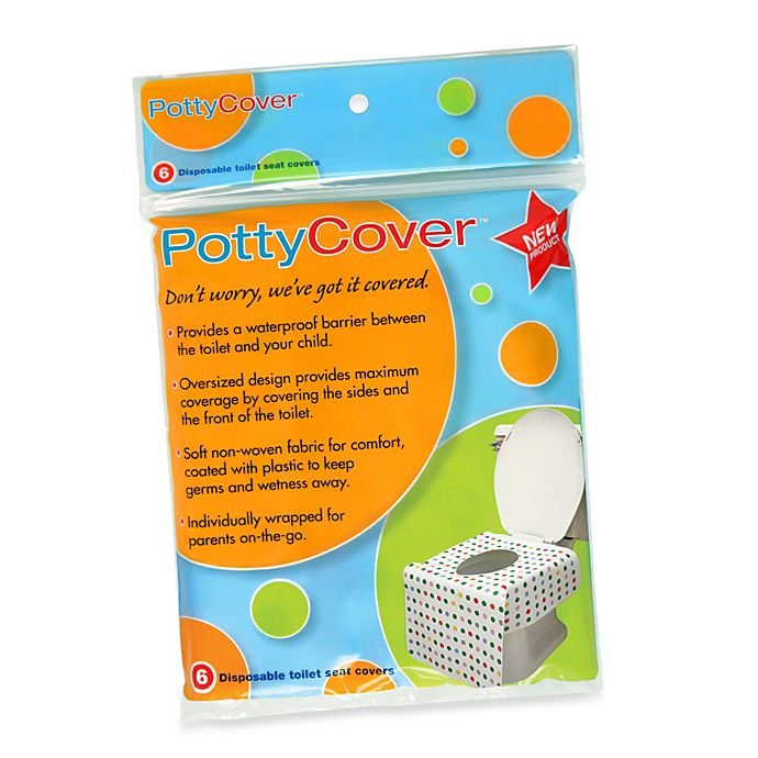 Alternate image 1 for PottyCover 6-Pack Disposable Toilet Seat Covers