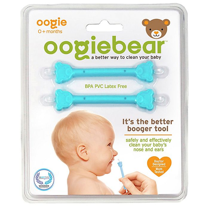 Alternate image 1 for oogiebear® 2-Pack Infant Nose & Ear Cleaner in Blue/Blue by oogie solutions