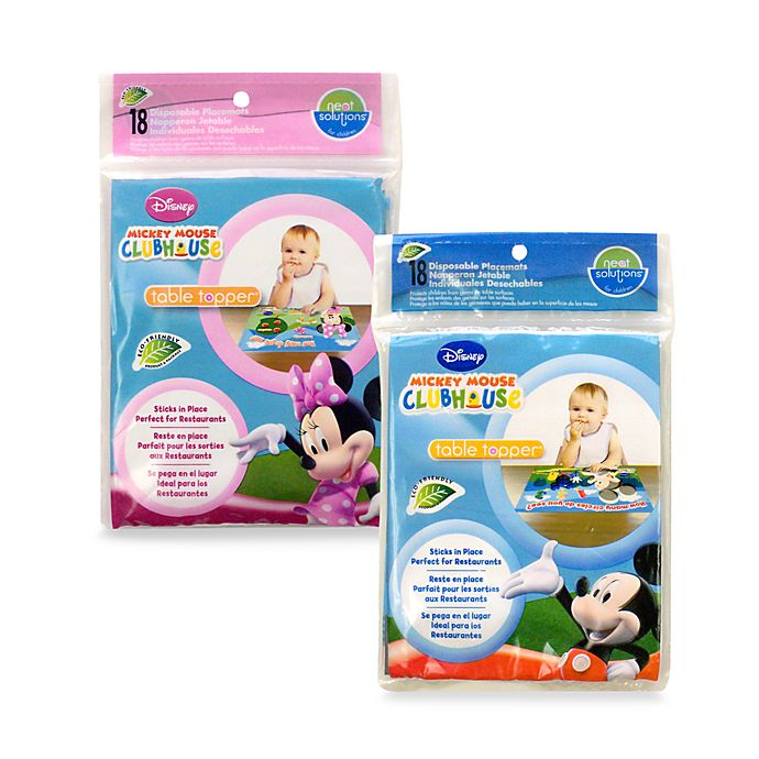 Alternate image 1 for Neat Solutions® Disposable Table Toppers (18 Count) - Mickey Mouse or Minnie Mouse