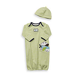 notNeutral® Green Stripe Airplane Gown - 0 - 3 Months