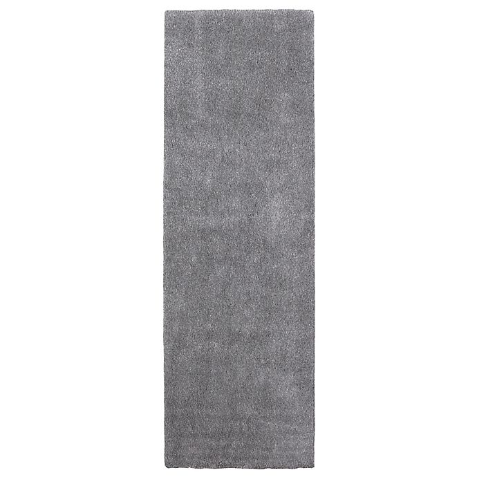 Alternate image 1 for Norway Shag Area 3' x 8' Runner in Grey