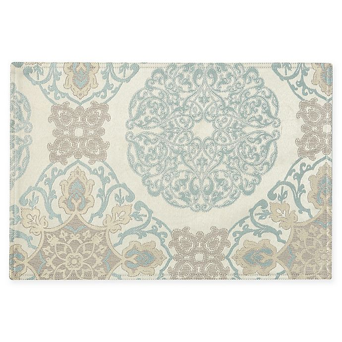 Alternate image 1 for Waterford® Linens Jonet Placemat in Aqua