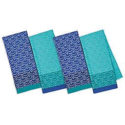 Design Imports Scallops Jacquard Kitchen Towels Set Of 4