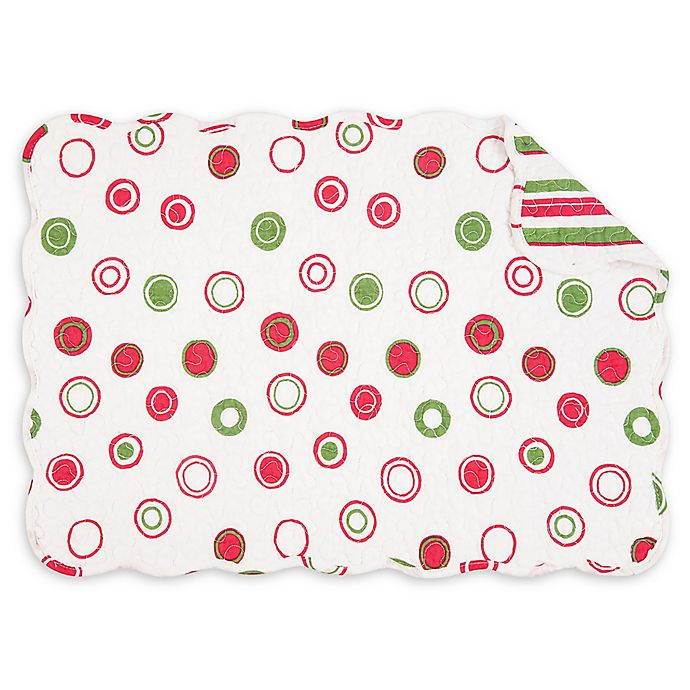 Alternate image 1 for C&F Home Holiday Bubbles Placemats in White (Set of 6)