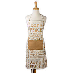 Design Imports Christmas Chef Apron in Gold