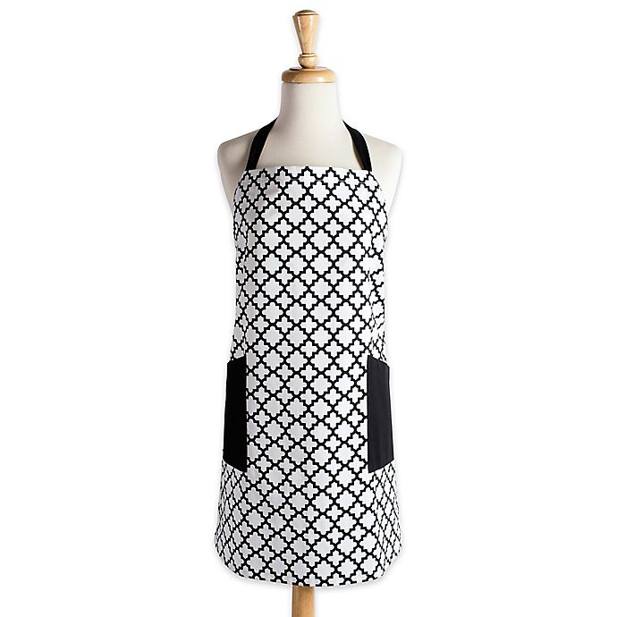 Alternate image 1 for Design Imports Lattice Apron in White