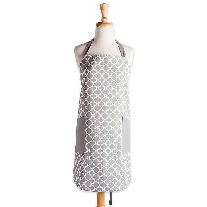 Alternate image 1 for Design Imports Lattice Apron in Grey