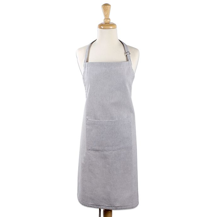 Alternate image 1 for Design Imports Chambray Chef Apron in Grey