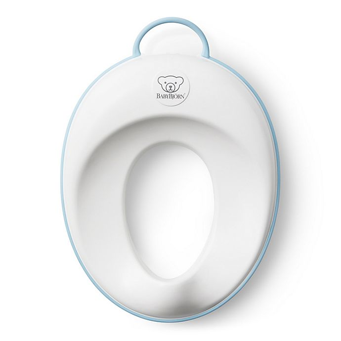 Alternate image 1 for BABYBJORN® Toilet Trainer in White/Turquoise