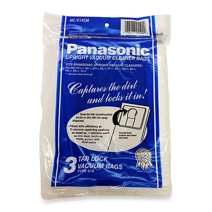 Panasonic Type U 6 Upright Vacuum Cleaner Bags 3 Pack