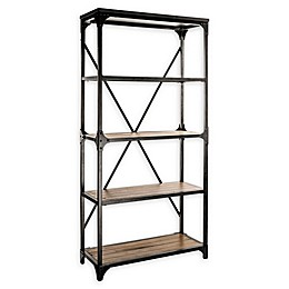 Powell Collin Wood and Metal Bookcase