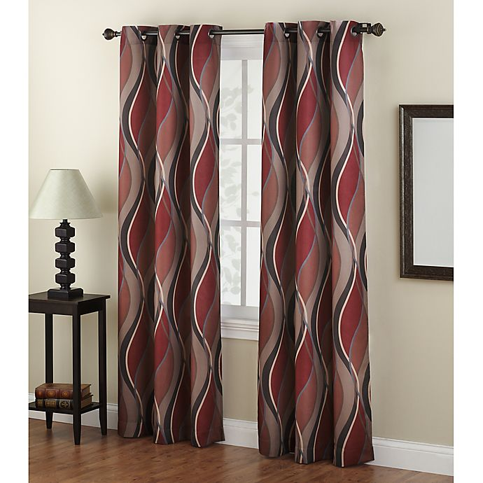 Alternate image 1 for No.918® Intersect Light Filtering Grommet Top Window Curtain Panel