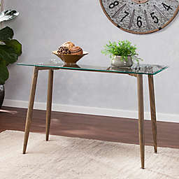 Southern Enterprises Occasional Table Collection in Oak/Glass